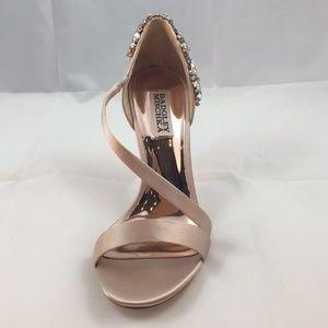 BADGLEY MISCHKA Rose Satin heels 👠